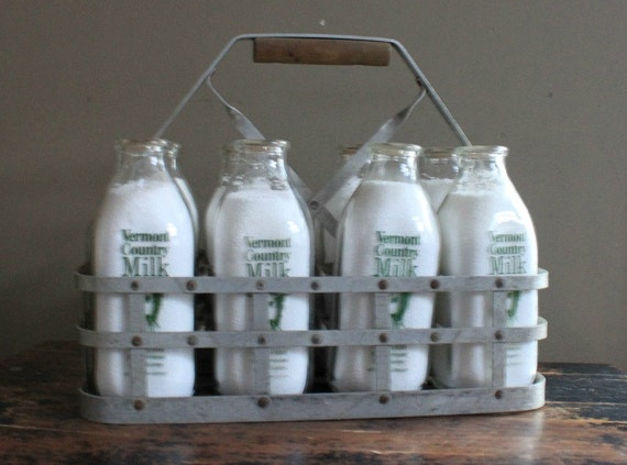 antique milk bottle carrier. Black Bedroom Furniture Sets. Home Design Ideas