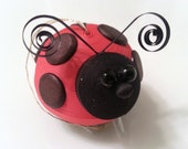 Red Ladybug Ornament - Spring Decoration Paper Quilled