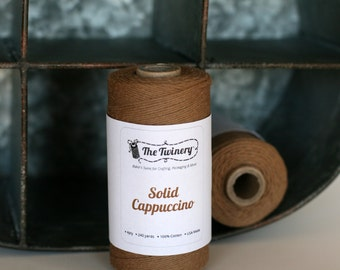 Bakers twine in rich coffee brown SOLID COLORS, brown twine, brown bakers twine, full spool coffee brown twine, brown craft twine, string