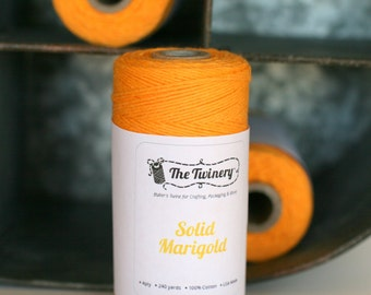 Yellow bakers twine Bright yellow twine in a solid color, Marigold, bright yellow bakers twine, solid yellow twine, craft twine, twine,