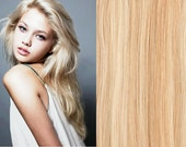 "20"" Remy Human Hair Clip In Extensions 27/ 613 Mixed Blonde 7 Piece Set 75 GRAMS Fast Shipping USA Seller"