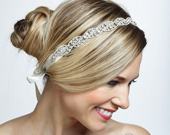 ROMA crystal wedding bridal headband