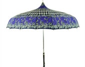 Alice In Wonderland Purple Blue Pagoda Umbrella