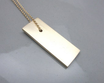 Minimalist Brass Necklace Contemporary Industrial Jewelry Clarity Series I