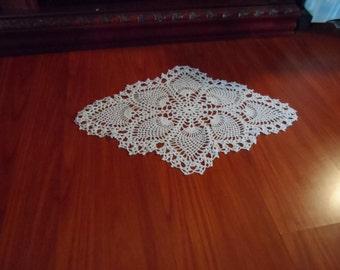 Vintage Crochet Pineapple Doily Pdf Pattern, Instant Download