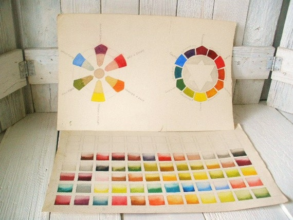 Watercolor Color Color Wheel Watercolor