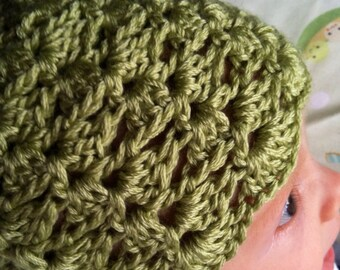 Pistachio green newborn hat (also available in teal color)