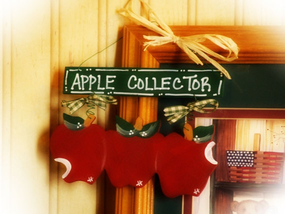 Items similar to apples country wall decor bless my for Apple home decoration