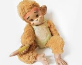 Antique 1960s Stuffed Toy Monkey
