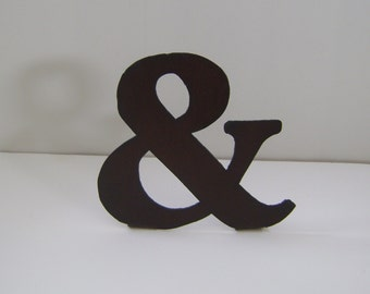 "Ampersand, Metal Ampersand, 7 "" ampersand, ampersand in natural rust or painted finish to stand alone or hang on wall"