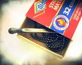 You Are My Match, Light My Fire, Handmade Sterling Silver Burnt Match Stick Pendant