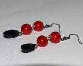 Crimson Dangle Earrings