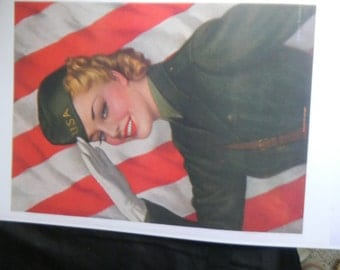 WW 11 pin up girl poster