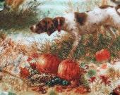 English Pointer Hunting Dog Scene yo yo doily-penny rug style candle mat, home decor gift