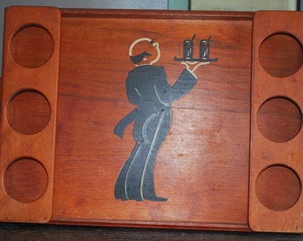 Wooden Butler's Drink Tray
