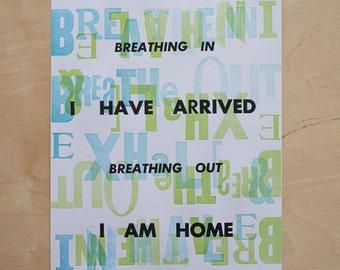 Breathe Meditation Poster