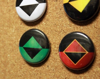 "Icons - Set of 4 - 1"" Inch Badges / Pins"
