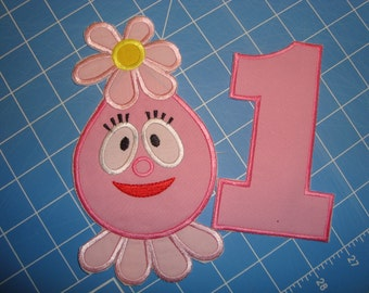 Iron on Foof Applique with number Birthday