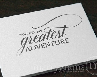 Wedding Card to Your Bride or Groom - You Are My Greatest Adventure, Love Note or Valentine's Day Card, On Our Wedding Day Sweetheart  CS04