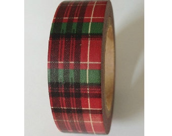Tartan - Japanese Washi Masking Tape - 11 yards
