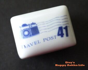 Vintage Ceramics Rubber Stamp Set - Camera - 1 Stamp and 1 Ink Pad