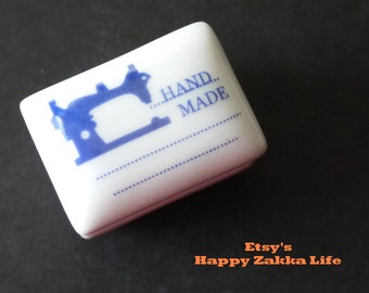 ON SALE - Vintage Ceramics Rubber Stamp Set - Sewing Machine - 1 Stamp and 1 Ink Pad
