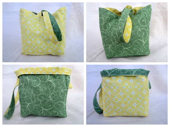 Knitting Project Bag/Crochet Project Bag reversible