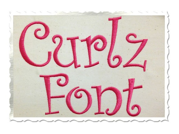 free embroidery machine fonts
