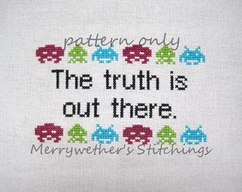 X-Files - The Truth Is Out There - Cross Stitch PATTERN