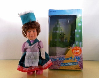Vintage 1988 Multi Toy 50th Anniversary Series Wizard of Oz.  Flower Pot  Munchkin Figure Doll In the Org. Box