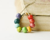 Ball Bead Rainbow Sampler Set - Handmade Ceramic Beads - Ready to Ship