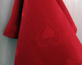 Linen tea towel  kitchen decor   gift