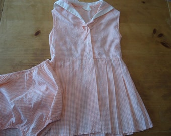 Judy Kent Little Girl's 50s early 60s Sundress with matching Undies