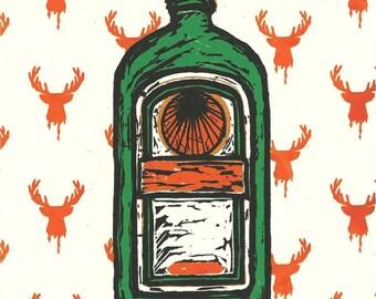 Oh Deer God, 2014 - 2nd edition (Original Hand-pulled Screen Print)