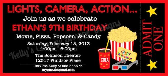 printable movie ticket invitation templates .