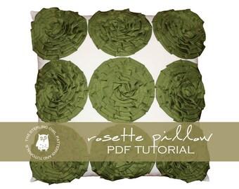 Rosette Pillow - PDF Tutorial