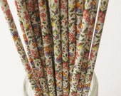 10 Paper FLORAL Pattern Straws - Free Printable Straw Flags - In COUNTRY LIVING Magazine