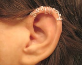 "No Piercing ""Curling Ivy"" Cartilage Ear Cuff for Upper Ear Helix 1 Cuff COLOR CHOICES Wedding, Prom, Quinceanera"