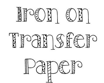 Transfer Paper for White or Light Colored Shirts - Iron on Transfer Paper - Plain Paper with NO Design - Ink Jet Printer ONLY