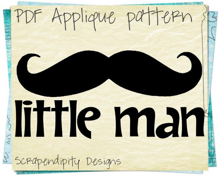 mustache applique pattern mustache applique template diy