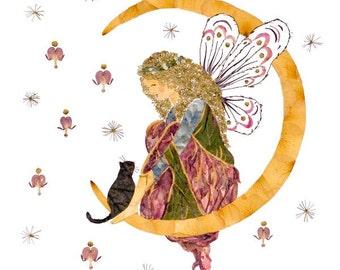 Fairy Flower Blossom Fine Art Print - Orion's Heaven Magical Fantasy Artwork
