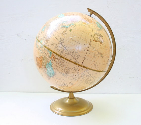 "Vintage World Globe - Cram's Imperial World Globe 12"""