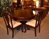 Victorian Mahogany Dining Table with 4 chairs / Kitchen Tables