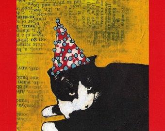 Postcard: Eli's Party Hat
