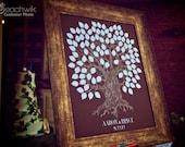 Guest Book Alternative - Wedding Tree - The Oakwik - A Peachwik Interactive Art Print - 100 guest sign in - Oak Tree Rustic Guest book Print
