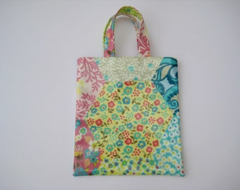 Child's PVC Bag Patchwork Print , Oilcloth Bag, Small Tote Bag,Shopping Bag
