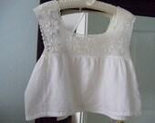 Vintage - camisole - ladies - white - cotton - lace - size medium