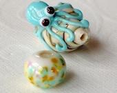 Lampwork Bits and Pieces: Destash Lampwork Seashell Octopus Bead