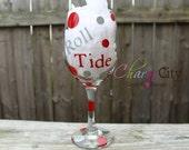 Roll Tide Crimson Tide Wine Glass Personalized 20 oz University of Alabama