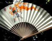 Okami 'Sun Cloud' Folding Fan